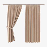 curtain 2 brown 3ds