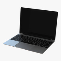 3d model generic laptop 3