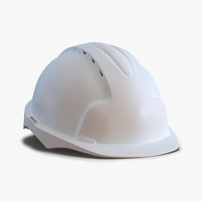 3ds safety helmet white