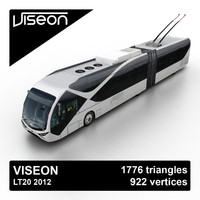 3d model viseon lt20 2012 bus
