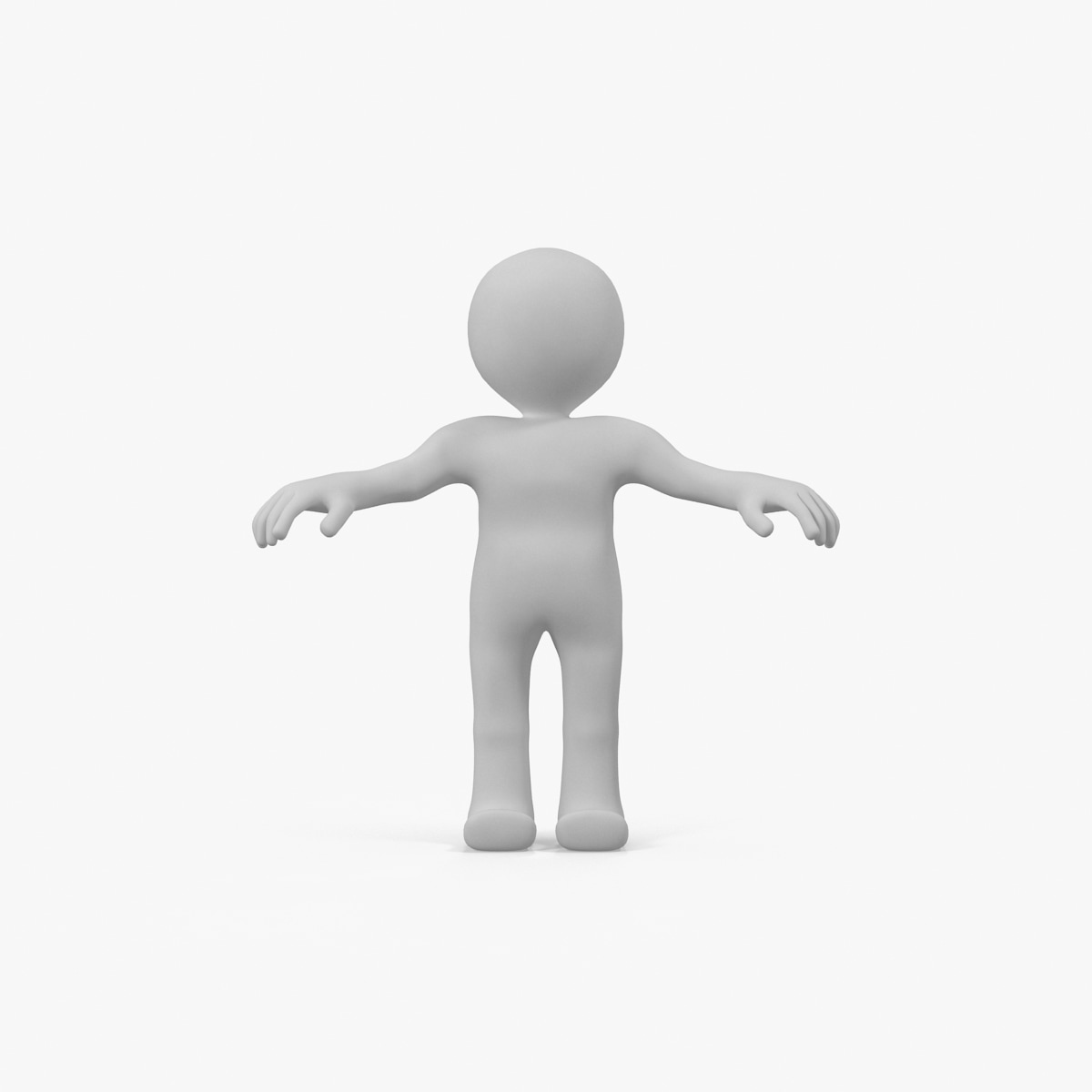 3d model rigged stickman cartoon character