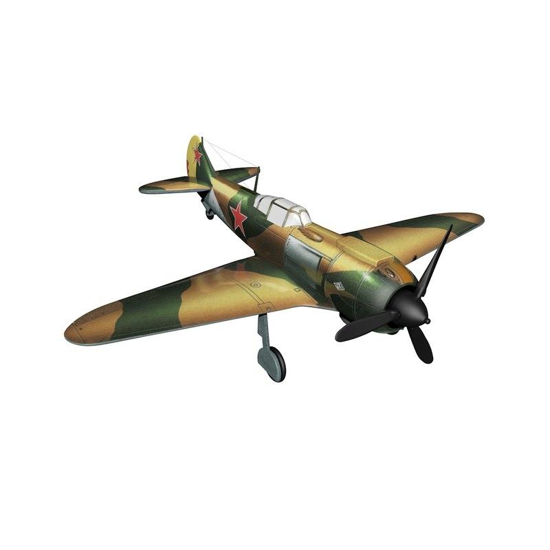 3d model of airplane lavochkin la 5