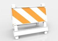 traffic safety barrier 3d model