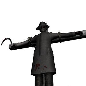 3d scarecrow scare crow model