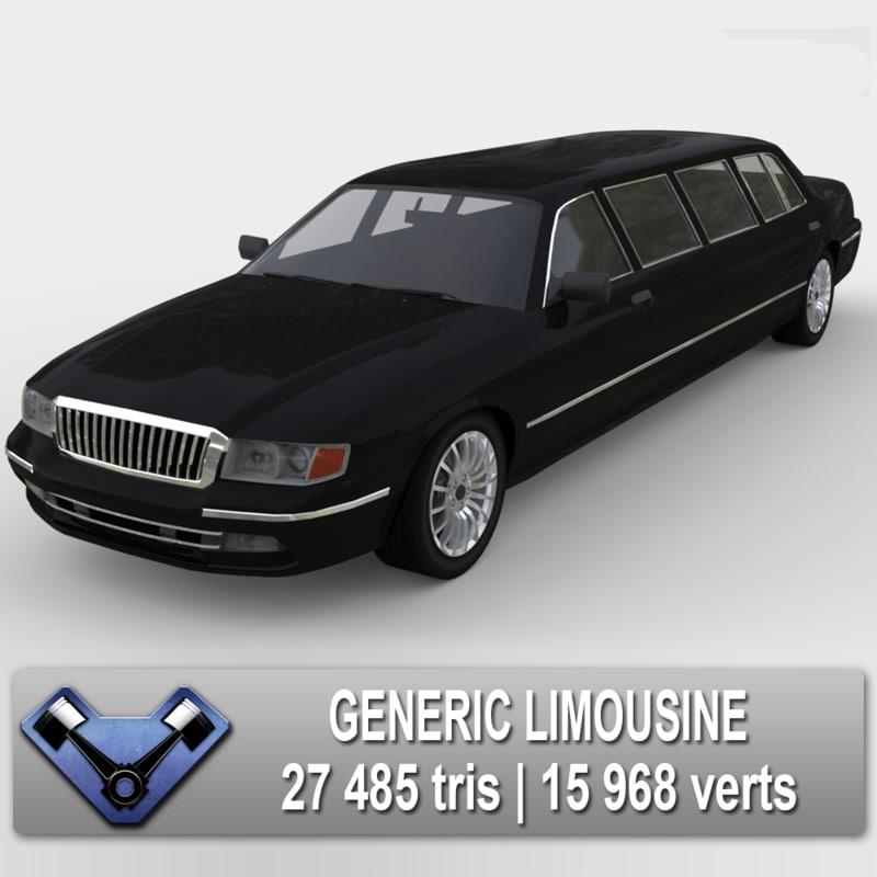 3d generic limousine model