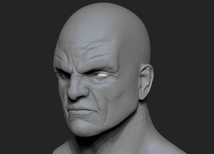 head unwrapped normal 3d model