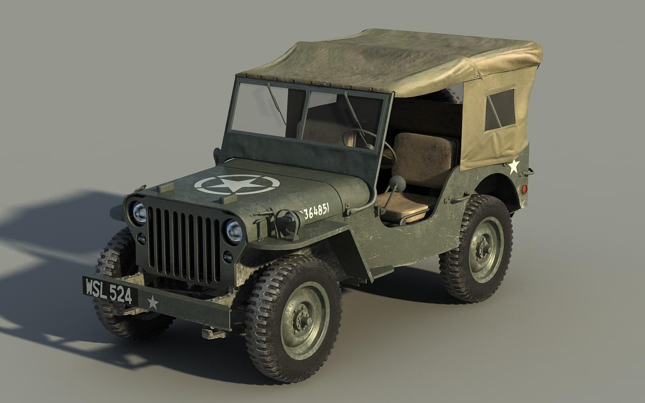 3dsmax classic jeep