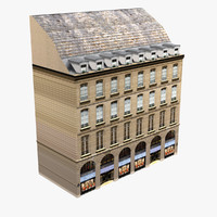 European Building Low Poly