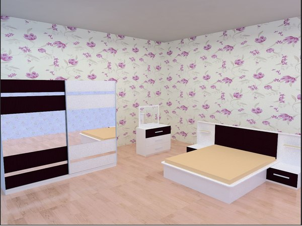 3ds modern bedroom