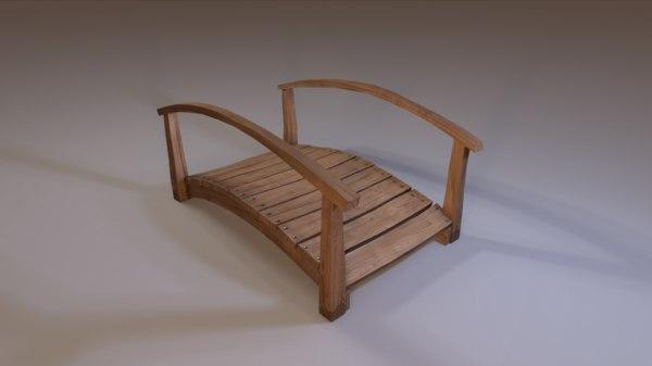 ready wooden bridge 3d obj