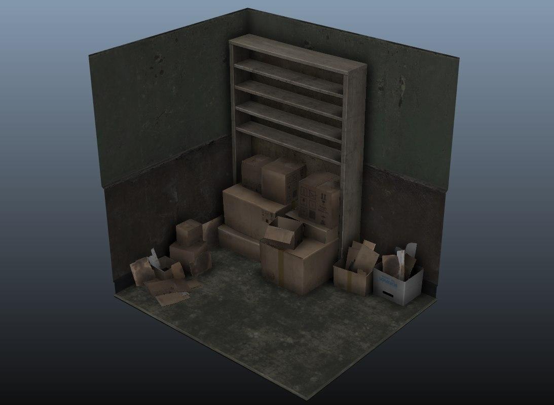 3d model set cardboxes