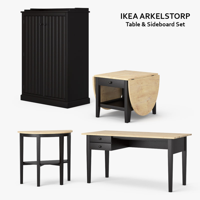 3d ikea arkelstorp set model. Black Bedroom Furniture Sets. Home Design Ideas