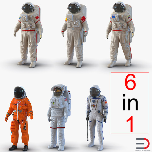space suits rigged 2 3d max