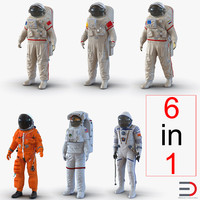 Space Suits Rigged Collection 2 3D Models