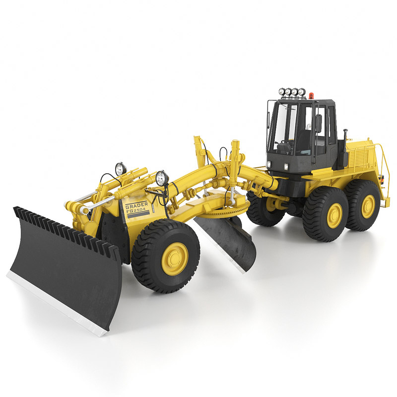 tractor bulldozer machine 3d model