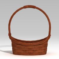 basket bask bas 3d model