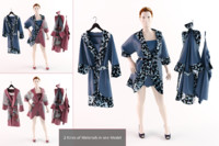 3d bathrobe silk home