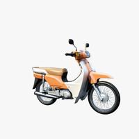 moped 3d model