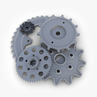 gears set 08 steampunk 3d model
