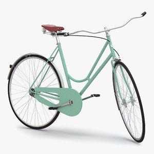 max city bike green rigged