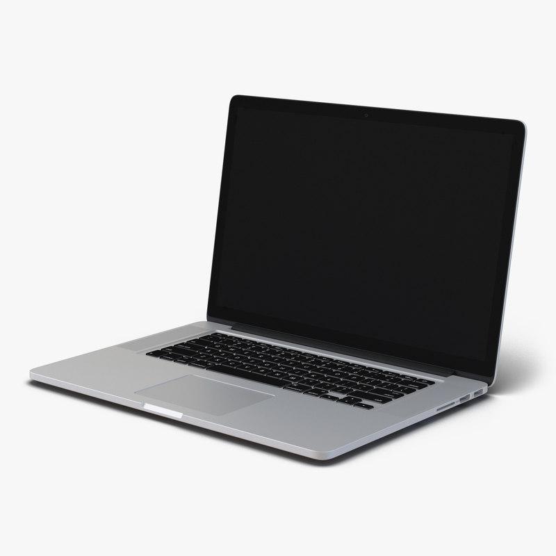 generic laptop 8 3d model