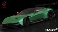 3d aston martin vulcan 2016 model