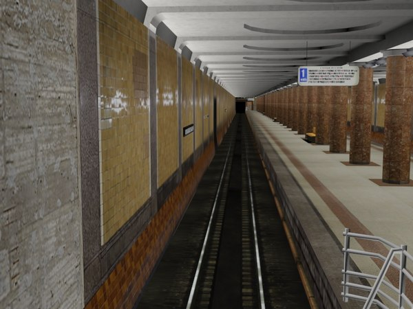 3d model subway station