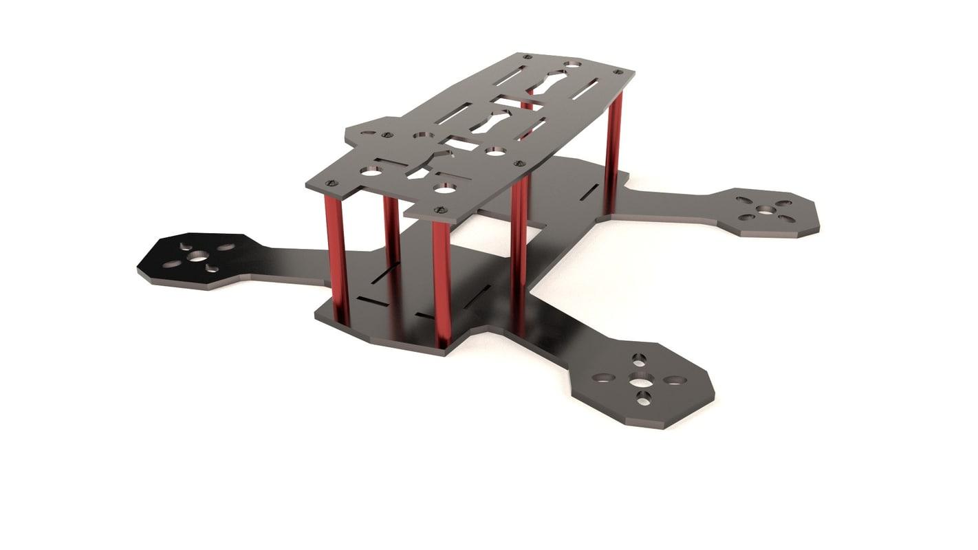 quadcopter frame zmr180 3d model