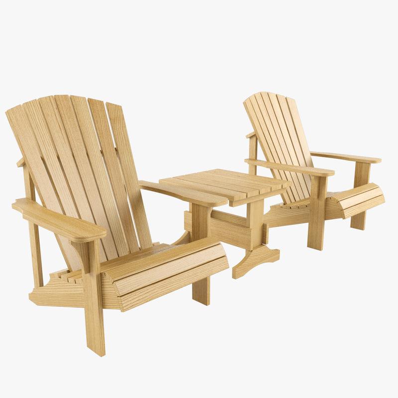 3dsmax garden furniture set