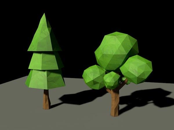 trees loop animation 3d model