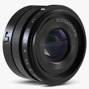 3d model of lens dji mft 15mm