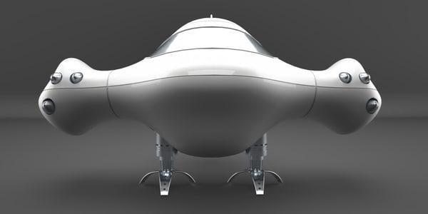 mini spaceship obj free