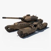 3d tank bend model