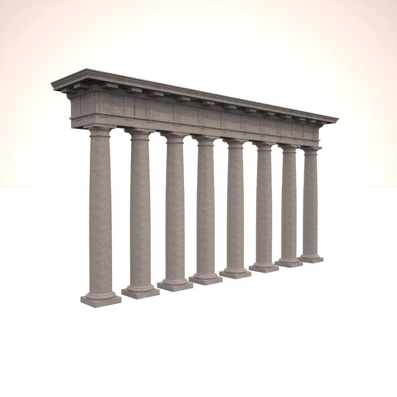 doric column 3ds