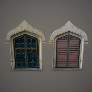 3d gothic windows