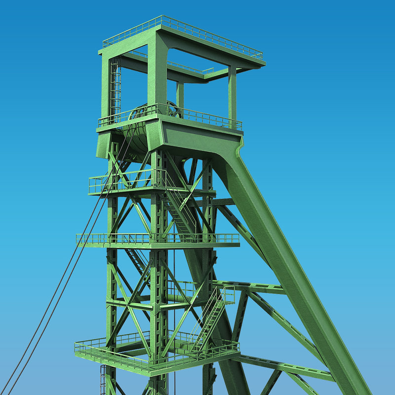 mining headframe 3d model