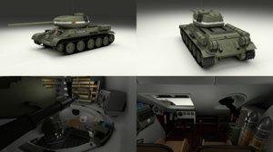 soviet tank interior t 3d obj