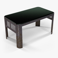 table industriart greyglass art 3d obj