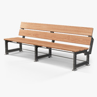 3d street bench industriart lavka model