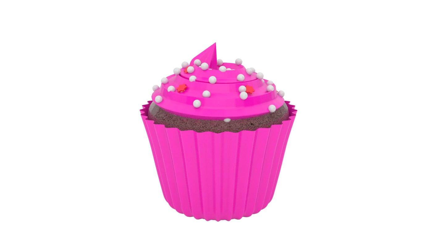 3d realistic cupcake v1