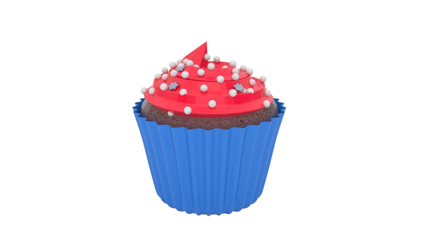 3d model realistic cupcake v3