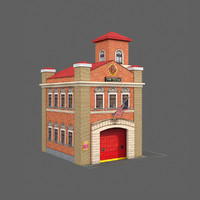 Lowpoly Fire Station 1x1
