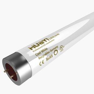 fluorescent tube 3d model
