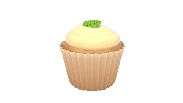 realistic cupcake 3d model