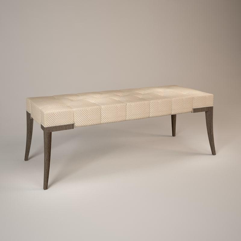 adam bench 3d model
