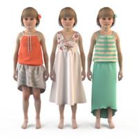 fashion clothing baby girls 3ds