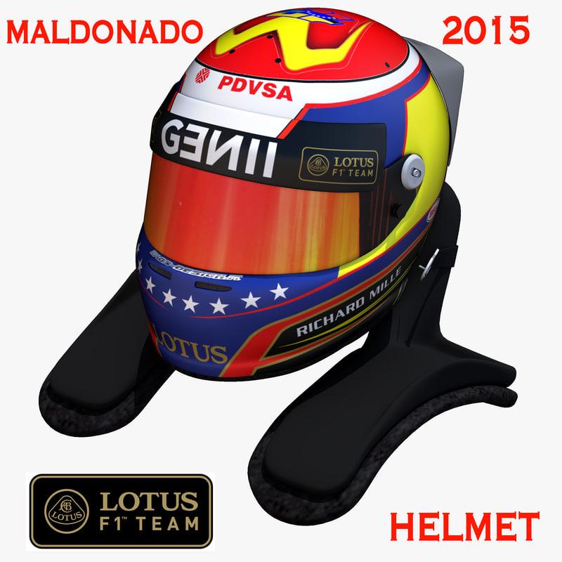 x pastor maldonado helmet 2015