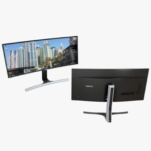 ultra monitor curved 3d fbx