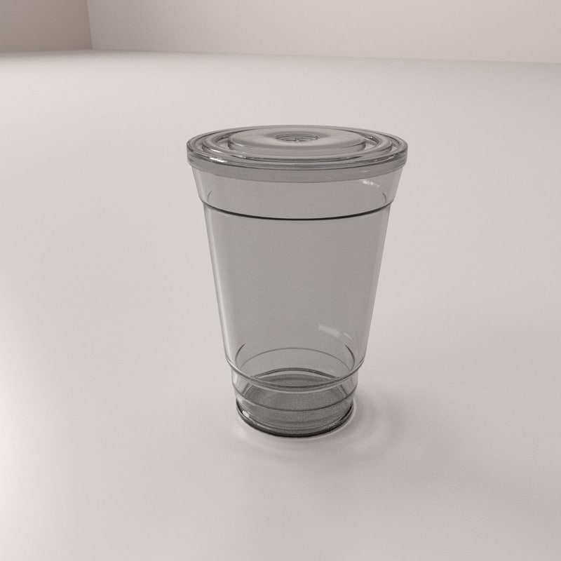 3dsmax disposable cup