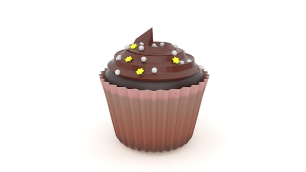 realistic cupcake v5 3d 3ds